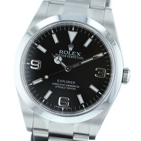 【中古】ROLEX (ロレックス) エクスプローラーI 時計 自動巻き/メンズ EXPLORER Black 214270 used:A