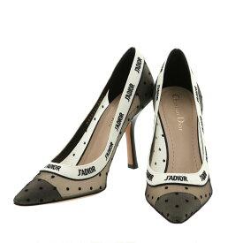 【新品同様】Christian Dior クリスチャン ディオール J'ADIOR スリングバッグ パンプス レディース 25.5cm 靴 ブラック [ROH]