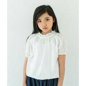 【新作】【riziere】ふんわりバルーン半袖ブラウス 100cm 110cm 120cm 130cm 140cm キッズ 女の子 2色