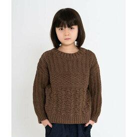【riziere】手編み風ニットセーター 90cm 100cm 110cm 120cm 130cm 140cm キッズ 男女兼用 1色