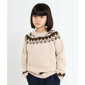 【riziere】ノルディック柄ニットセーター 90cm 100cm 110cm 120cm 130cm 140cm キッズ 男女兼用 2色