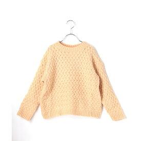 【riziere】変わり編みニットセーター 90cm 100cm 110cm 120cm 130cm 140cm キッズ 男女兼用 2色