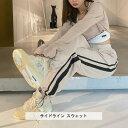 サイドライン スウェット 全1色 ベージュ S M L XL ボトムス スウェットパンツ ラインパンツ ライン スポーティー ウエストゴム ストリート モード ナチュラル カジュアル クール 大人 大人コーデ 春 秋 冬 コーデ 韓国スタイル 韓国ファッション