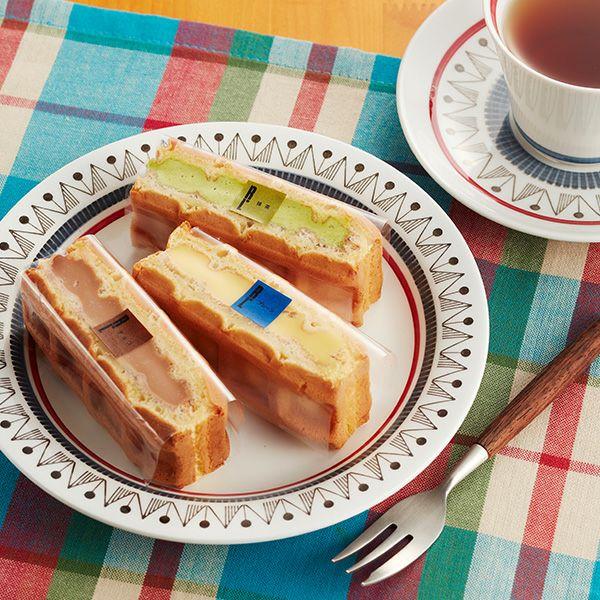 ワッフルケーキ3個入り【スイーツ まとめ買い 個包装】【プチギフト 退職 結婚式 名入れ お菓子 ケーキ ノベルティ ありがとう お世話になりました】