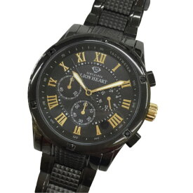 ♪♪【中古】 LION HEART ライオンハート メンズ 腕時計クォーツ ブラック LHW10