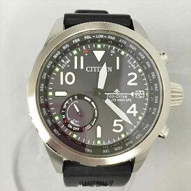 ▽▽【中古】CITIZEN シチズン PROMASTER プロマスター エコドライブ 電波ソーラー F150-S113504 ブラック 腕時計