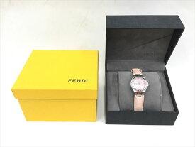 〇〇【中古】フェンディ FENDI 腕時計 ケース付き レザー ピンク 002-4600L