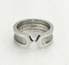 ☆☆【833】【中古】カルティエ Cartier C2 リング K18WG 8号 ホワイトゴールド 指輪