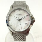 〇〇【中古】GUCCI グッチ レディース腕時計 Gタイムレス SS ホワイトシェル クォーツ 126.5