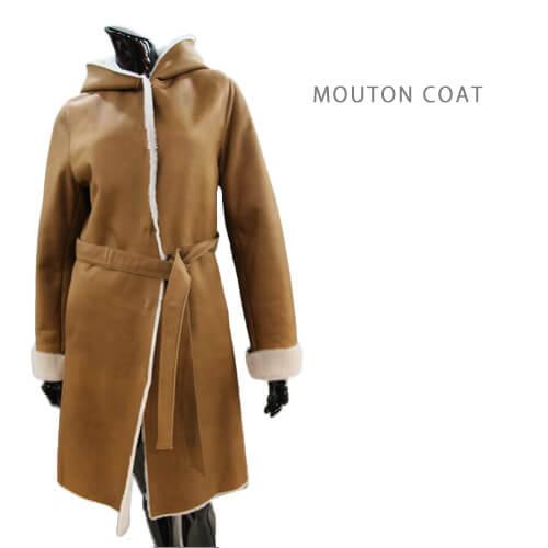 【OFF Price】5フック フード付き ムートンコート 毛皮 コート レディース ムートンウェア