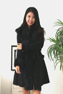 ★ in popular products ★ ★ リアルムートン # 1 cheap ★ belted Shearling coat belted Shearling coat fur coat Shearling coat Mouton (Womens).