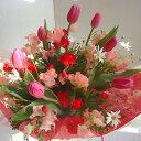 チューリップ スイートピー 春の花 花束 卒業 入学 歓送迎会 門出 贈る花束