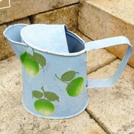 ガーデン 雑貨 オーナメント 植物 gardening 庭 インテリア green pot 置物 ガーデン 鉢 ポット 雑貨 アンティーク ブリキのポット
