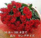 バラ 花束 50本!100本 還暦祝 60本 赤バラにも調整OKお祝・誕生日 歓送迎会 薔薇 ロングサイズ50cm プロポーズ プレゼント サプライズ 入学