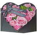 バラ オープンハート ピンク シャボンフラワー ソープフラワー ギフト 母の日 プレゼント 造花 フェイクフラワー 記念日 結婚 出産