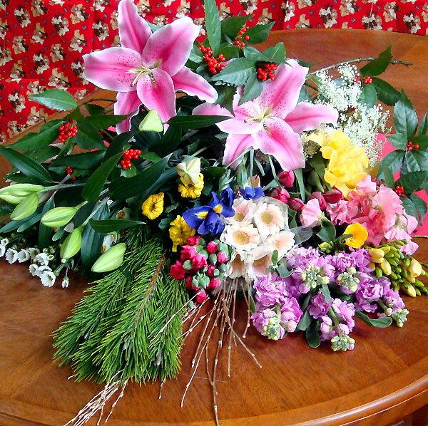 お正月は花いっぱ〜い♪暮れの切り花楽ちん福袋!お歳暮 ギフト 自宅や贈り物に 年越し特集2019