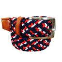 ベルト ゴムメッシュベルト 本革 メンズベルト 編み込み ゴムベルト 大きいサイズ メッシュベルト 伸びるベルト ビジネス カジュアル …