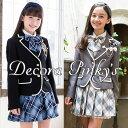 卒業式 スーツ 女の子 5点セット ブラックフォーマル DECORA PINKY'S デコラピンキーズ 子供服 150・160・165 卒服 小学校卒業式スーツ...
