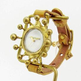 Gothic Laboratory ミルククラウン腕時計 ホワイト腕時計 レディース かわいい 個性的 おしゃれ ブレスレット 革ベルト ハンドメイド 手作り お誕生日 入社祝い 入学祝い 卒業祝い プレゼント【送料無料】