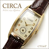 CIRCA腕時計(サーカ)[CT116T]/レディース腕時計女性用メンズヴィンテージビンテージゴールド牛革クラシック大きい文字盤ボーイズサイズ/