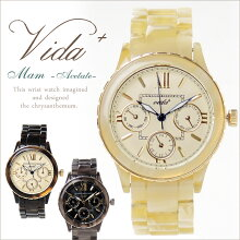 Vida+レディース腕時計Mum〈曜日・日付・24時間計搭載〉アンティーククラシカル人気おすすめお誕生日プレゼントおしゃれかわいい【送料無料】【RCP】