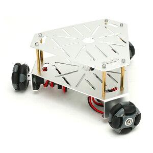 3WD48mmオムニホイールロボットプラットフォーム(エンコーダ付) シルバー(15001S)[台車ロボット・研究開発] 【NEXUS robot】