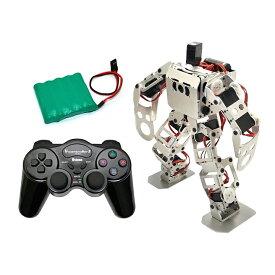 (セット) 二足歩行ロボット Robovie-nano (組み立てキット版) 専用バッテリー+コントローラーセット [ラジコン] 【ヴイストン Vstone】