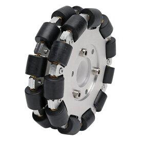 127mmダブルアルミオムニホイール(ベアリングローラー) (14073)[台車・タイヤ] 【NEXUS robot】