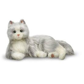 猫ロボット Ageless Innovation製 ネコ型(シルバー&ホワイト) インタラクティブ コンパニオン Joy For All Cat B7594