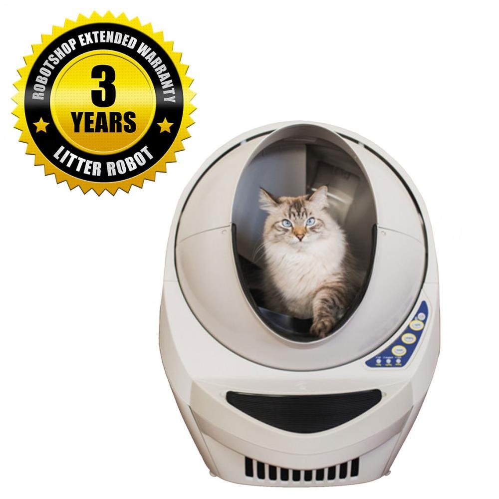猫用の開放型全自動洗浄トイレ リッターロボット(3年間延長保証付き)