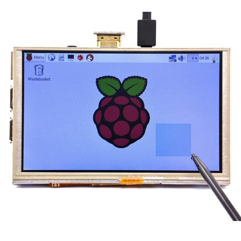 5インチ 800x480 HDMI TFT LCD タッチスクリーン Raspberry PI用