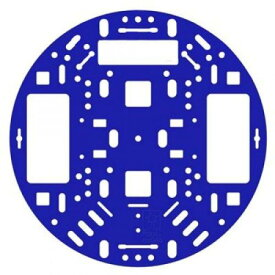Pololu 12.7cm ロボットシャーシRRC04A ソリッドブルー
