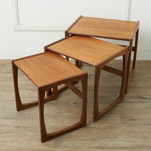 IZ37780A★G-PLAN Quadrille ネストテーブル サイドテーブル ジープラン 英国 イギリス 北欧 スタイル ヴィンテージ チーク ローテーブル