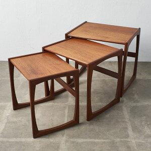 IZ38260A★G-PLAN Quadrille ネストテーブル サイドテーブル ジープラン 英国 イギリス 北欧 スタイル ヴィンテージ チーク ローテーブル
