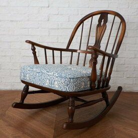 IZ40557C★張替済 飛騨産業 キツツキ ロッキングチェア 穂高 William Morris ウィリアムモリス 木製 チェア 椅子 カントリー WINDSOR 国産