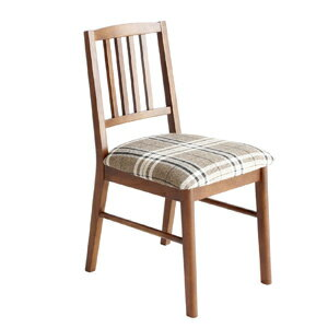 Walnut Dining Chair Fabric (emo Emo Cafe Furniture, Scandinavian,  Mid Century And Chair And Chair, Brown And Retro And Upholstered And Plaid  And EMC 2598BR ...