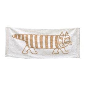 Lisa Larson リサラーソン フェイスタオル マイキー ベージュねこ 猫 ネコ MIKEY 北欧 スウェーデン 北欧雑貨 アニマル 布 ファブリック 日用品 吸水 高品質 今治