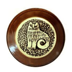 Lisa Larson リサ・ラーソン 益子の皿 ネコ(NINA)食器 お皿 リサラーソン アニマル 動物 ねこ 猫 キャット 飾りプレート 陶器 ヴィンテージ風 北欧 スウェーデン 益子焼 和食器 デザイン プレゼント ギフト パン皿 ケーキ皿