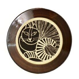 Lisa Larson リサ・ラーソン 益子の皿 ねこ(黒)食器 お皿 リサラーソン アニマル 動物 クロネコ 黒猫 キャット プレート 陶器 ヴィンテージ風 北欧 スウェーデン