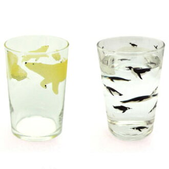 Suii North & South Pole North Pole and South Pole tumbler 2 pieces set Cocoo and Coke polar bears penguins clione animal glass cup gift-+ art-