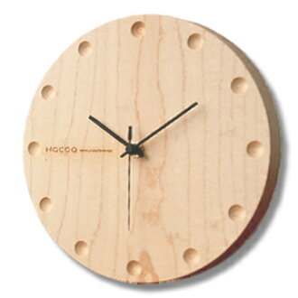Hacoa hacoa wall clock, wall clock / natural wood solid natural wood simple Japanese style modern stylish Scandinavian スイーブムーブメント static or bedroom dining living wall-mounted lamps round Maple H150-M