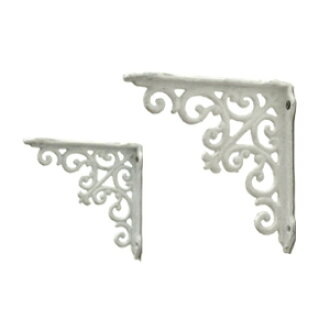 Cast iron and white b bracket S 2 pieces set (MC-01) (call Hung decorative wall storage Interior display gadgets retro iron wall mount antique processing)-+ antique-