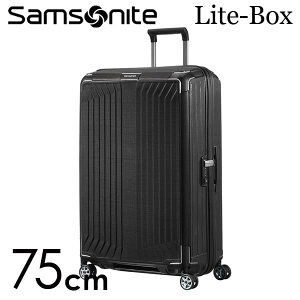 【期間限定ポイント10倍】サムソナイト ライトボックス スピナー 75cm ブラック Samsonite Lite-Box Spinner 100L 79300