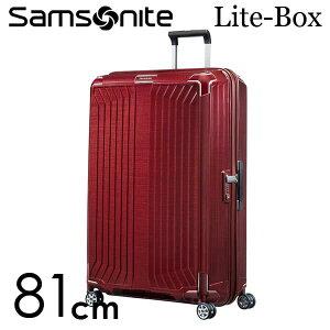 【期間限定ポイント10倍】サムソナイト ライトボックス スピナー 81cm ディープレッド Samsonite Lite-Box Spinner 124L 79301