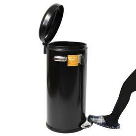 シンプルヒューマン CW1258 ラウンド レトロステップカン ブラック ゴミ箱 30L simplehuman