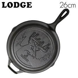 LODGE ロッジ ロジック スキレット 10-1/4インチ ディアーロゴ CAST IRON SKILLET WITH DEER LOGO L8SKWLDR