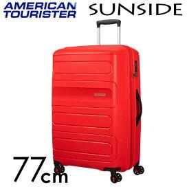 サムソナイト アメリカンツーリスター サンサイド 77cm サンセットレッド American Tourister Sunside Spinner 106L〜118L EXP