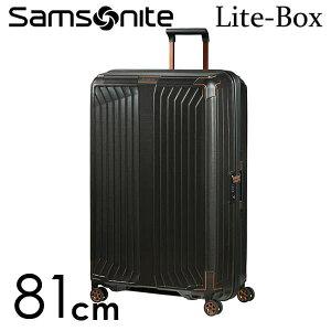 【期間限定ポイント5倍】サムソナイト ライトボックス スピナー 81cm ブラックカッパー Samsonite Lite-Box Spinner 124L 79301-4340