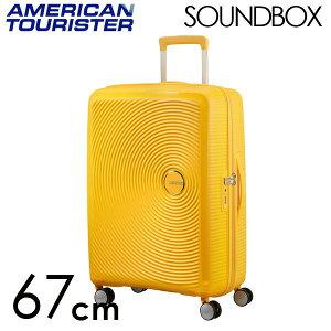 【期間限定ポイント10倍】サムソナイト アメリカンツーリスター サウンドボックス 67cm ゴールデンイエロー American Tourister Sound Box Spinner 71L〜81L EXP