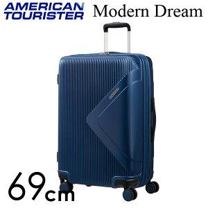 【期間限定ポイント10倍】サムソナイト アメリカンツーリスター モダンドリーム 69cm トゥルーネイビー American Tourister Modern Dream Spinner 70L〜81L EXP【送料無料(一部地域除く)】